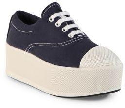 pradaPrada Canvas Cap Toe Platform Sneakers