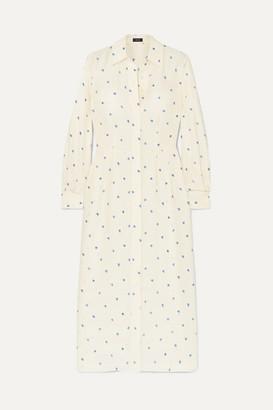Joseph Turner Printed Ribbed Silk Dress