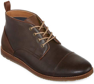 Jf J.Ferrar Mens Coffey Chukka Boots Wedge Heel Lace-up