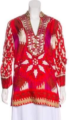 Tory Burch Printed Silk Tunic