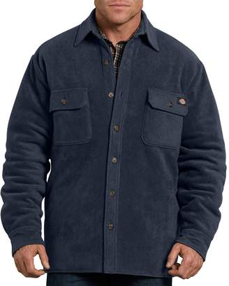Dickies Big & Tall Relaxed-Fit Fleece Quilted Shirt Jacket