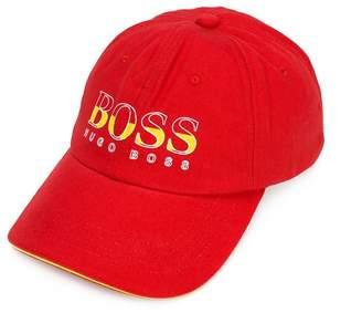 Boss Kids Spanish logo print baseball cap