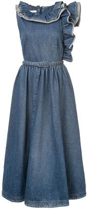 Co denim mid-length dress