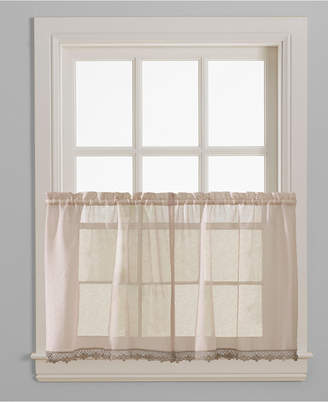 """CHF Leanne Pair of 28"""" x 36"""" Tier Curtains"""