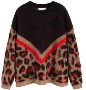 MANGO Leopard texture sweater