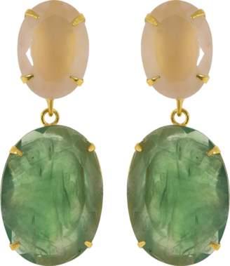Bounkit JEWELRY Quartz And Flourite Earrings