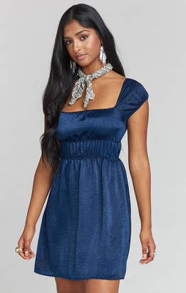 Show Me Your Mumu Libby Dress ~ Navy Sheen