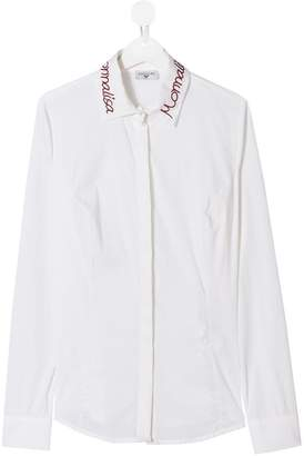 MonnaLisa TEEN embroidered collar shirt