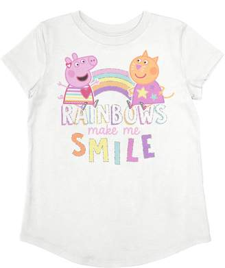 Peppa Pig Toddler Girl Jumping Beans & Candy Cat Rainbow Graphic Tee