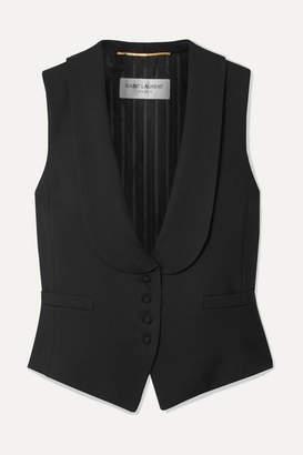 Saint Laurent Wool-twill Vest - Black