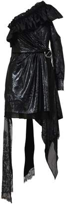 Self-Portrait Self Portrait Asymmetric Velvet Dress