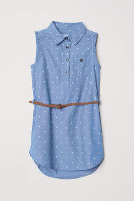 H&M Shirt Dress with Belt - Blue