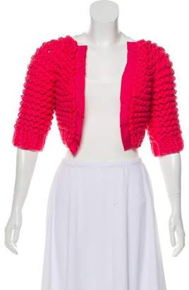 Nina Ricci Open Knit Short Sleeve Shrug