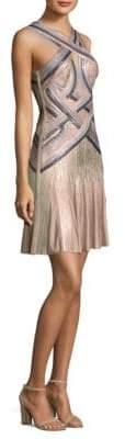 Herve Leger Metallic Halter Dress