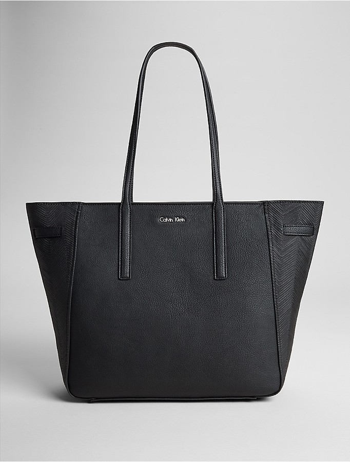 Calvin Klein Jordan Textured East/West Tote