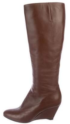 Giuseppe Zanotti Leather Knee-High Boots Brown Leather Knee-High Boots