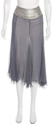 Ya-Ya Ya Ya Silk Embellished Midi Skirt