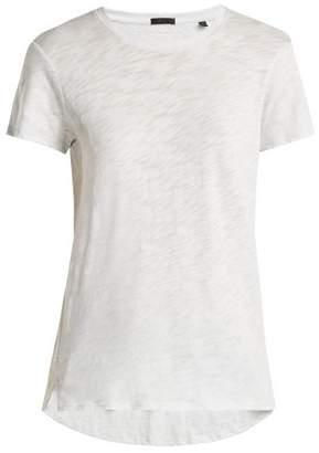 Atm - Schoolboy Cotton Slub Jersey T Shirt - Womens - Light Blue