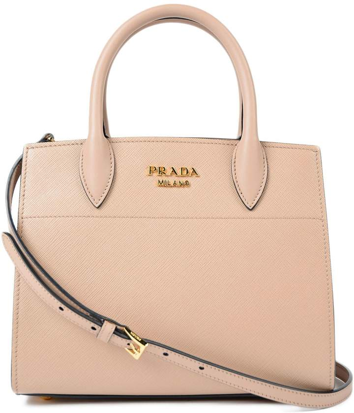 Prada Saffiano+city Calf Handle Bag