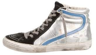 Golden Goose Slide Metallic Sneakers