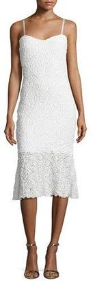 French Connection Havana Sweetheart-Neck Lace Dress, Summer White $117 thestylecure.com