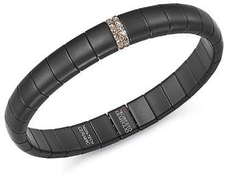 Roberto Demeglio 18K Rose Gold & Matte Black Ceramic Pura Stretch Bracelet with Champagne Diamonds