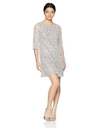 Jessica Howard Women's Petite 3/4 Sleeve Lace Shift Dress