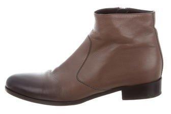 pradaPrada Ombré Leather Ankle Boots