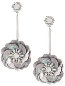 Kate Spade Crystal Floral Drop Earrings