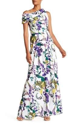 Kay Unger Floral Off-the-Shoulder Dress