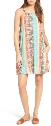 Women's Mimi Chica Square Neck Shift Dress $39 thestylecure.com