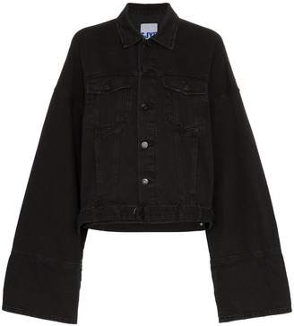 Sjyp Oversized cuff denim jacket