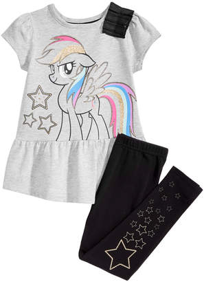 My Little Pony Little Girls 2-Pc. Graphic-Print Top & Leggings Set