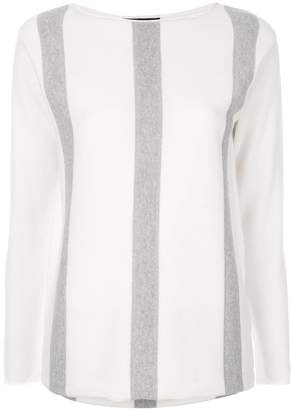 Fabiana Filippi striped loose fit pullover