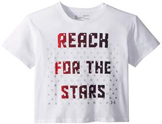 Under Armour Kids USA Reach For The Stars Short Sleeve Tee Girl's T Shirt