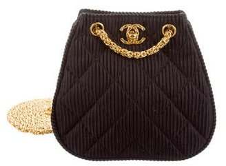 Quilted Satin Crossbody Bag