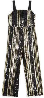 Bardot Illy Striped Sequin Jumpsuit, Size 8-16
