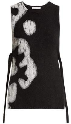 Altuzarra - Louis Floral Print Sleeveless Cotton Top - Womens - Black White
