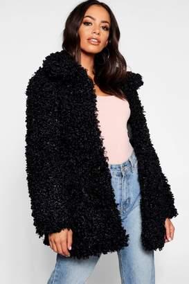 boohoo Premium Teddy Faux Fur Coat