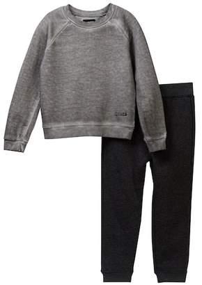 Hudson French Terry Sweatshirt & Fleece Pants 2-Piece Set (Toddler Boys)