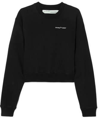 Off-White OffWhite - Printed Cotton-jersey Sweatshirt