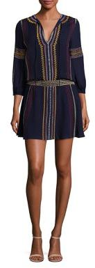 Alice + Olivia Jolene Embroidered Drop-Waist Dress $395 thestylecure.com