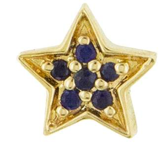Andrea Fohrman Mini Blue Sapphire Star Single Stud Earring - Yellow Gold