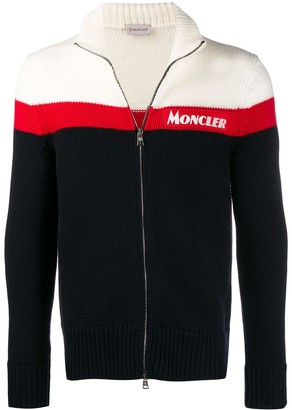 Moncler knitted zip-up cardigan
