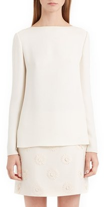 Women's Valentino Back Bow & Cowl Cady Blouse $1,490 thestylecure.com