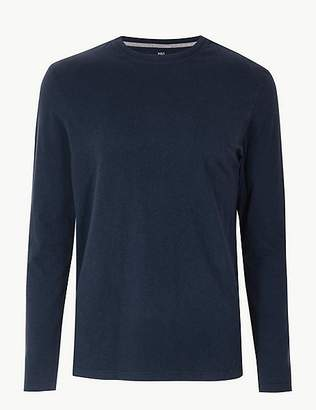 Marks and Spencer Pure Cotton Long Sleeve T-Shirt