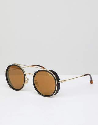 Carrera round sunglasses in gold