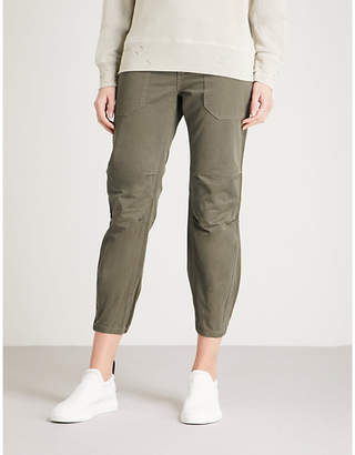 Zadig & Voltaire Palma Grunge cropped cotton trousers