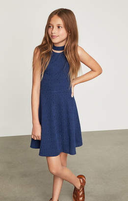 BCBGMAXAZRIA Choker Flared Dress