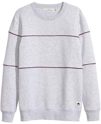 H&M Sweatshirt with Piping - Gray